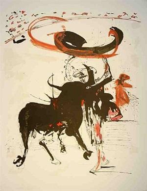 bullfight # 2 by salvador dalí