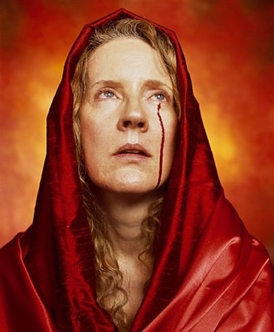 blood madonna by andres serrano