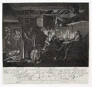 jupiter and mercury in the house of philimon and baucis by hendrik goudt