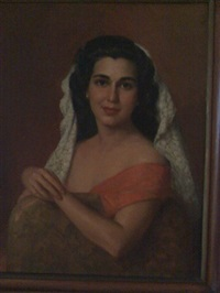 portrait of alma rodriquez by fernando cueto amorsolo
