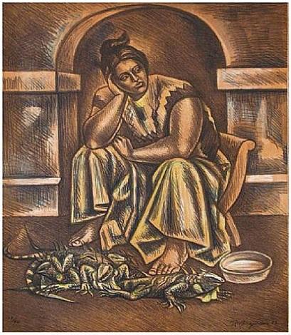 iguana seller by raúl anguiano