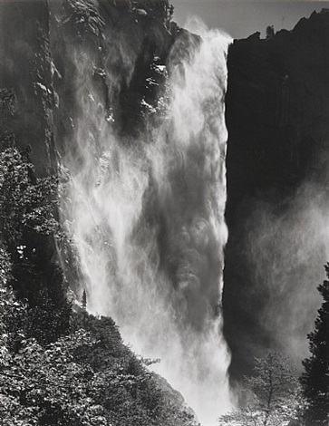 bridalveil fall, yosemite national park, ca by bob kolbrener