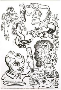 peter saul print retrpspective, 1966-2011 by peter saul