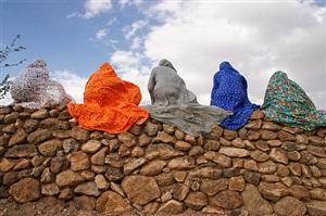 chadornama - on the wall by haleh anvari