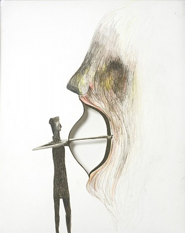 untitled (nuraghian archer) by enrico david