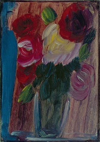 großes stilleben: rosen blau-lila harmonie by alexej jawlensky