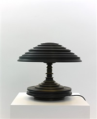lathe lamp black by sebastian brajkovic