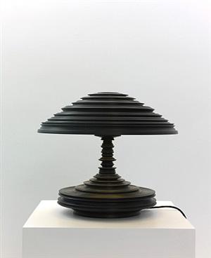 lathe lamp black by sebastian brajkovic