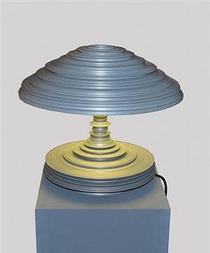 lathe lamp light grey by sebastian brajkovic