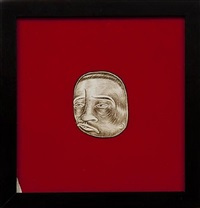 untitled (brown head) by barry mcghee