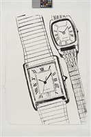 two quartz watches by andy warhol