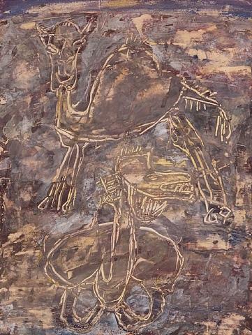deux chameaux by jean dubuffet