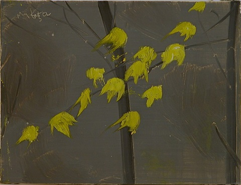 yellow leaves #3 by alex katz