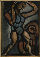 acrobates xiii by georges rouault