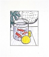 "study for ""still life with goldfish"" by roy lichtenstein"