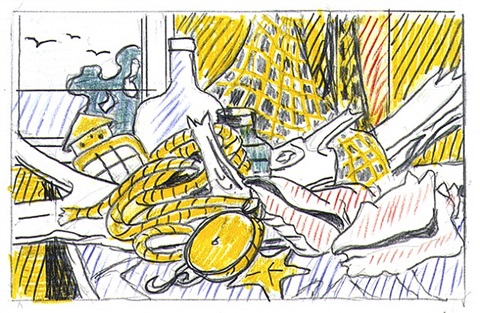 "study for ""cape cod still life"" by roy lichtenstein"