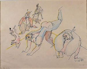 acrobats by george grosz