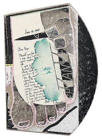 untitled (foot with letter) by ray johnson