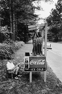 little boy selling coca cola at roadside, atlanta, ga by alfred eisenstaedt