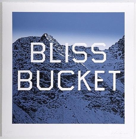 bucket bliss by ed ruscha