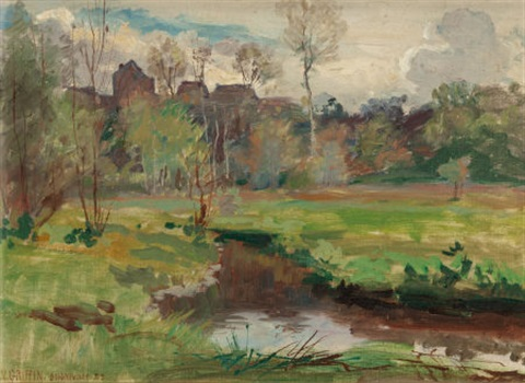 landscape boigneville france by walter griffin