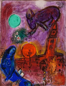 saint germain des prés by marc chagall