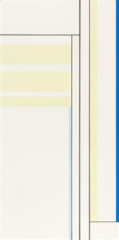 pale yellow vertical with black lines by ilya bolotowsky