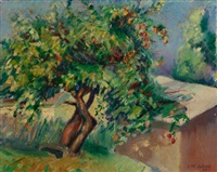 landscape with apple tree by kenneth miller adams