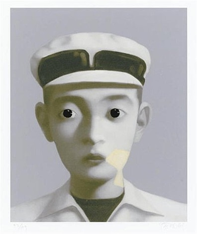 identity portrait no. 6 by zhang xiaogang