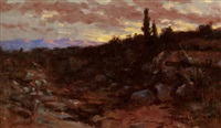 sunset landscape by john bond francisco