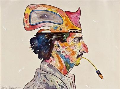 self portrait: spitting bullets by luis cruz azaceta