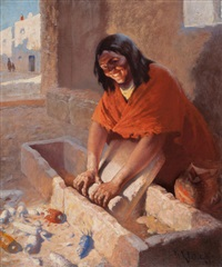 indian girl by william robinson leigh