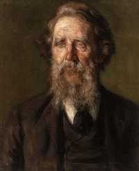 portrait of an elderly bearded man by frank hector tompkins