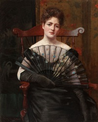 portrait of the artist's wife, margaret cecilia keenan by frederick warren freer
