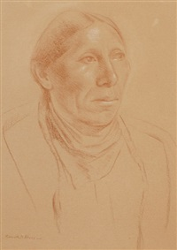 portrait of an indian by kenneth miller adams