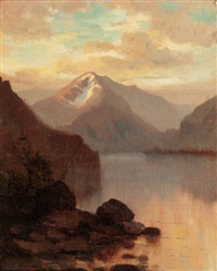 sunset in the rocky mountains by hamilton hamilton