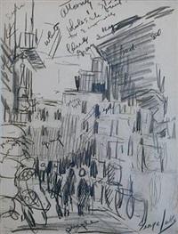 street scene by george benjamin luks