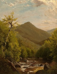 a mountain stream by richard william hubbard