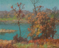 the river in autumn by maurice braun
