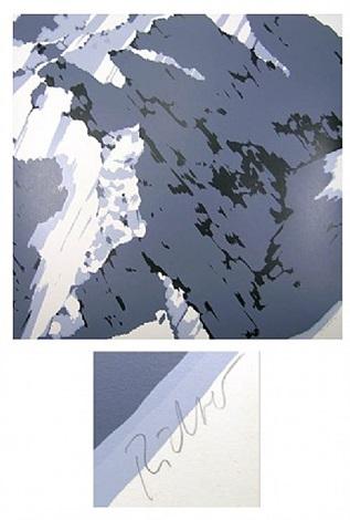 schweizer alpen - motiv a1 by gerhard richter