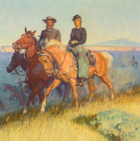 the apache curse illustration for the saturday evening post february 17 by harold von schmidt