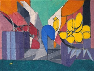 nature morte aux fleurs jaunes by jacques villon