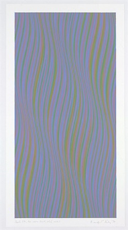 series 35 green added to red and blue by bridget riley
