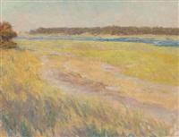 spring afternoon landscape by charles henry hayden