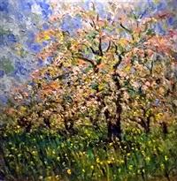 bl cerisiers à fleurs (cherry blossoms) by samir sammoun