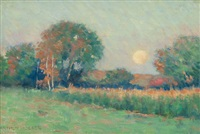 summer landscape at sunset by arthur hoeber