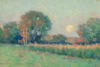 summer landscape at sunset by arthur hoeber