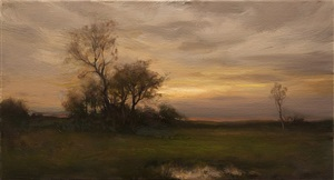silver skies at sunset (sold) by dennis sheehan