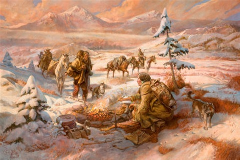 shoshone hunters return by william harry bill ahrendt