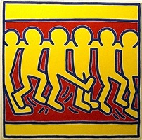 untitled #3 (chorus line) by keith haring